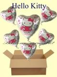 Hello Kitty Luftballons mit Helium, Kindergeburtstag Geschenke, 6 Stück