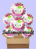 Hello Kitty Rundluftballons mit Helium, Kindergeburtstag Geschenke, 6 Stück