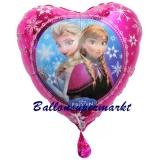 Eiskönigin Herz, Luftballon mit Helium, Kindergeburtstag u. Geschenk