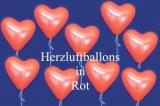 Herzluftballons, Herzballone, Luftballons in Herzform, 50 Stück, Rot, 30-33 cm