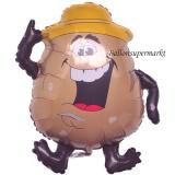 Kartoffel, Deko-Luftballon aus Folie ohne Helium