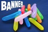 Latex-Banner-Luftballons, 10 Stück