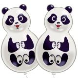 Latex-Panda-Luftballons, 2 Stück