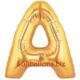 Buchstabe A, gold, Luftballon mit Helium