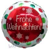 Frohe Weihnachten Luftballon, rund