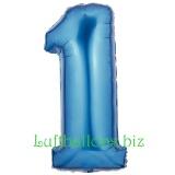 Zahlen-Luftballon Blau, Zahl 1