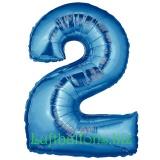 Zahlen-Luftballon Blau, Zahl 2