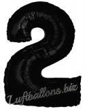 Zahlen-Luftballon Schwarz, Zahl 2