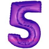 Zahlen-Luftballon Lila, Zahl 5