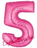 Zahlen-Luftballon Pink, Zahl 5