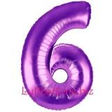 Zahlen-Luftballon Lila, Zahl 6