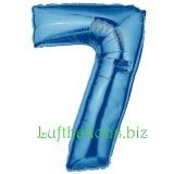 Zahlen-Luftballon Blau, Zahl 7
