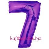 Zahlen-Luftballon Lila, Zahl 7