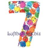 Folien-Luftballon Balloons and Streamers, Zahl 7