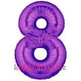 Zahlen-Luftballon Lila, Zahl 8