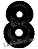 Zahlen-Luftballon Schwarz, Zahl 8