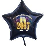 """Silvester-Luftballon aus Folie mit Helium, """"Frohes neues Jahr!"""" 2017"""