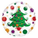 Weihnachts-Luftballon, Tannenbaum, rund