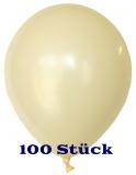 Deko-Luftballons, Standardfarben, Elfenbein, 28-30 cm, 100 Stück