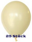 Deko-Luftballons, Standardfarben, Elfenbein, 28-30 cm, 25 Stück