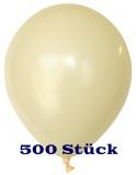Deko-Luftballons, Standardfarben, Elfenbein, 28-30 cm, 500 Stück
