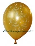 Hochzeits-Luftballons, Just Married, Gold, 25 Stück