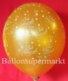Luftballons Hochzeit, Just Married, Gold, 25 Stück