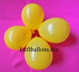 Mini-Luftballons, Wasserbomben, Deko-Ballons, Gelb, 100 Stück