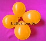 Mini-Luftballons, Wasserbomben, Deko-Ballons, Orange, 100 Stück