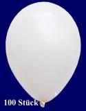 Deko-Luftballons, Standardfarben, Weiß, 28-30 cm, 100 Stück