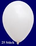 Deko-Luftballons, Standardfarben, Weiß, 28-30 cm, 25 Stück