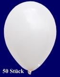 Deko-Luftballons, Standardfarben, Weiß, 28-30 cm, 50 Stück