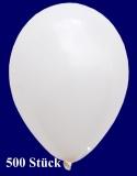 Deko-Luftballons, Standardfarben, Weiß, 28-30 cm, 500 Stück
