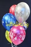 Luftballons, Zahl 4, 6 Stück