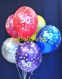 Luftballons, Zahl 50, 6 Stück