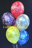 Luftballons, Zahl 90, 6 Stück