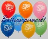 Rabattaktion mit Luftballons, 20 Prozent Rabatt