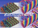 Luftschlangen Bunt, 10 Rollen Papierschlangen zu Karneval und Fasching