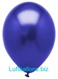 Luftballons Metallic, Blau, 10 Stück, 28 cm