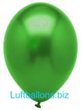 Luftballons Metallic, Dunkelgrün, 10 Stück, 28 cm