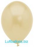 Luftballons Metallic, Elfenbein, 10 Stück, 28 cm