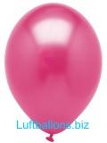 Luftballons Metallic, Fuchsia, 100 Stück, 28 cm