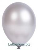 Luftballons Metallic, Silber, 100 Stück, 28 cm