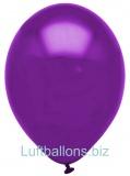 Luftballons Metallic, Violett, 100 Stück, 28 cm