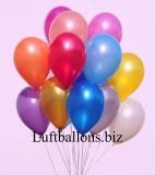 Deko-Luftballons, Metallicfarben, Bunt gemischt, 28-30 cm, 50 Stück