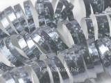 Luftschlangen Metallic, Silber, Holografisch, 1 Rolle