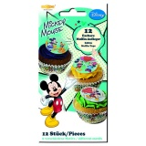 Muffinaufleger Micky Maus, Mickey Mouse Muffindekoration, 12 Stück