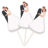 Partypicker zur Hochzeit, Brautpaar, Hochzeitsdeko