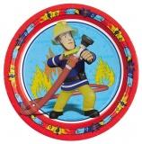 Partyteller Feuerwehrmann Sam, 8 Stück