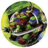 Partyteller Ninja Turtles, 8 Stück